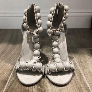 Liliana gray studded heels from Misslola
